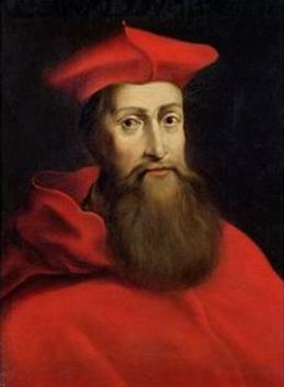 Cardinal Reginald Pole, son of Bl. Margaret Pole. Painted by Willem van de Passe