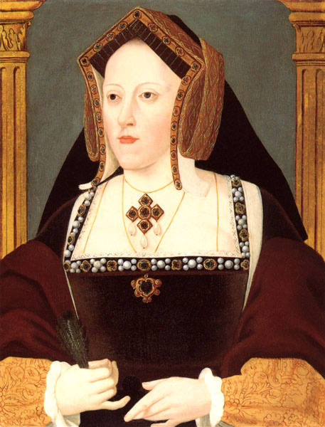 Queen Catherine of Aragon, painting by Lucas Hornebolte