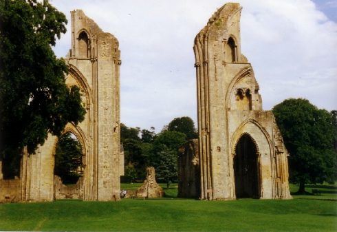 Remains of the choir of Glastonbury Abbey church