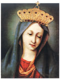 The Miraculous Image, Regina Sanctorum Omnium, (Queen of All Saints), patroness of Ancona and crowned by Pope Pius VII in 1814.