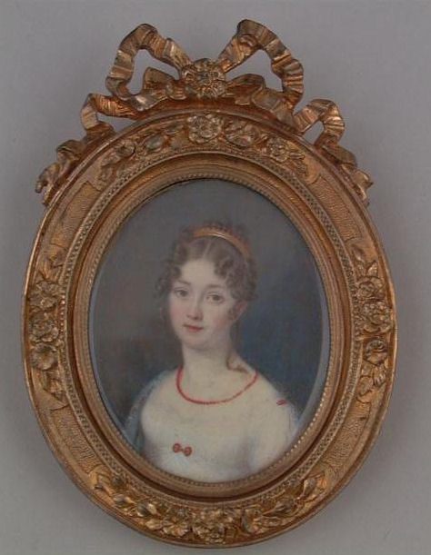 A typical lady of New York's high society in the early 19th century.