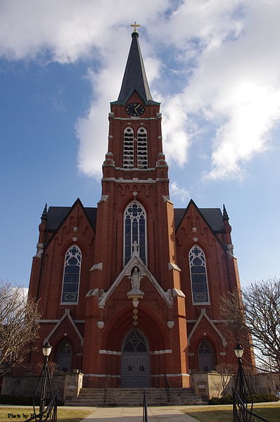St. Henry Catholic Church in St. Henry, Ohio, built in 1892 in honor of St. Henry II.