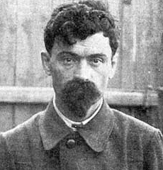 Yakov Mikhailovich Yurovsky (1878-1938), executioner of the Russian royal family in 1918. After all the firing was done, it was found that Tsarevich Alexei was still alive and Yurovsky went up to the Tsarevich and shot him in the head.