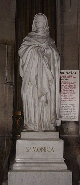 Statue of St. Monica, the Mother of St. Augustine.