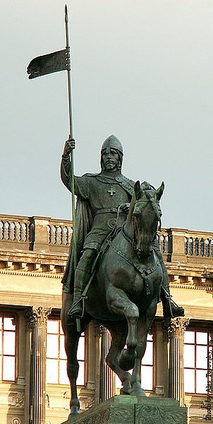 Equestrian statue of St. Wenceslaus I, Duke of Bohemia in Prague