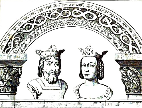 Hugh Capet and his wife Adelaide of Aquitaine