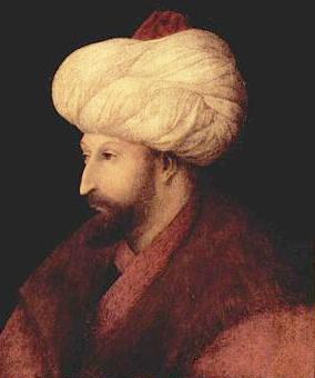 Portrait of Mehmed II by Venetian artist Gentile Bellini