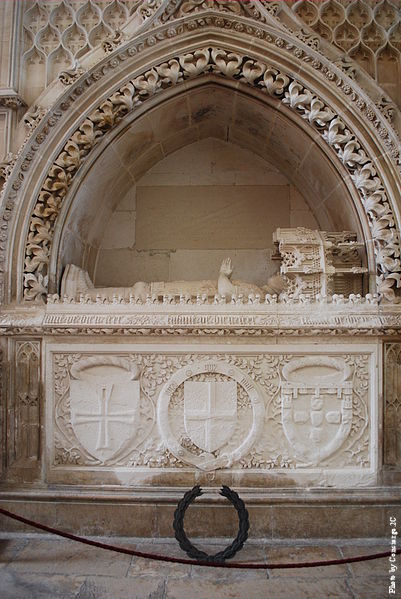 Tomb of Henry the Navigator in the Batalha Monastery, Portugal.