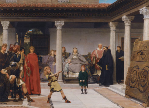 The Education of the Children of Clovis, Painting by Lawrence Alma-Tadema