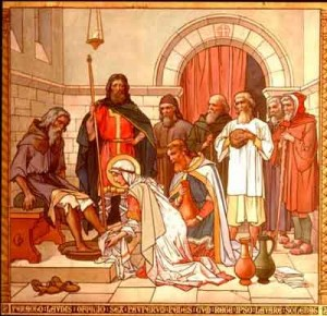 St. Margaret washing the feet of the poor