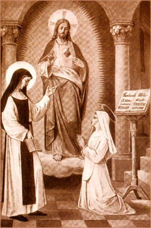 St. Mechtilde instructing the novice, St. Gertrude.