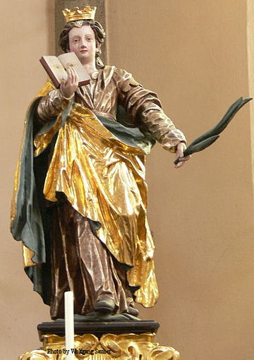 Statue of Saint Odilia in Austria