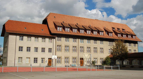 Collège Saint-Michel in Fribourg, Switzerland. It was established in 1582 by St. Peter Canisius. The college was lost by the Jesuits at the time of their Suppression in 1773. First under the administration of the local diocese and then of the canton, the college, now known as St. Michael College, continues to exist as a coeducational preparatory institution.