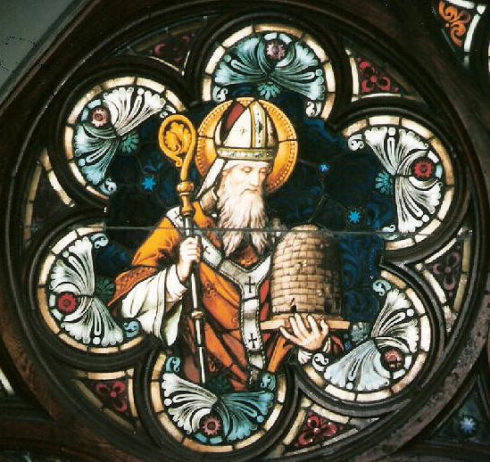 When St. Ambrose was an infant, a swarm of bees settled on his face while he lay in his cradle, leaving behind a drop of honey. His father considered this a sign of his future eloquence and honeyed tongue. For this reason, St. Ambrose is the patron Saint of Beekeepers.