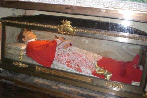 Saint Giuseppe Maria Tomasi's tomb is in Sant'Andrea della Valle Church.