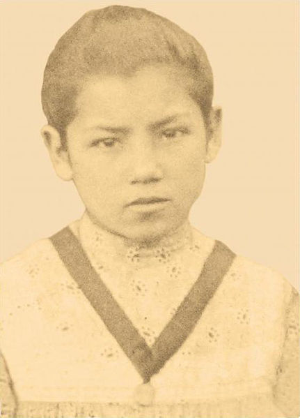 School photo of Bl. Laura del Carmen Vicuña Pino.