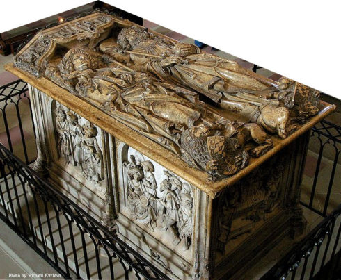 The tomb for Henry II., Holy Roman Emperor, and his wife Cunigunde of Luxemburg in the cathedral of Bamberg (Germany) was created 1499-1513 by Tilman Riemenschneider