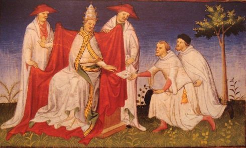 Pope Gregory X with Noccolo And Maffeo Polo In 1271, Pope Gregory received a letter from the Mongol Great Khan Kublai, remitted by Niccolo and Matteo Polo following their travels to his court in Mongolia. Kublai asked for a hundred missionaries, and some oil from the lamp of the Holy Sepulcher. Pope Gregory X could spare only two friars and some lamp oil.