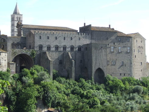 Popes' Palace in Viterbo, Italy. Viterbo remained the papal seat for twenty-four years, from 1257 to 1281.