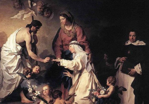 The Mystic Marriage of St. Catherine of Ricci by Pierre Subleyras