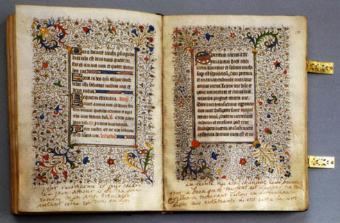 Mary Stuart's personal breviary, which she took with her to the scaffold, is preserved in the Russian National Library of St. Petersburg. Inscriptions by her hand may be seen on the margins.