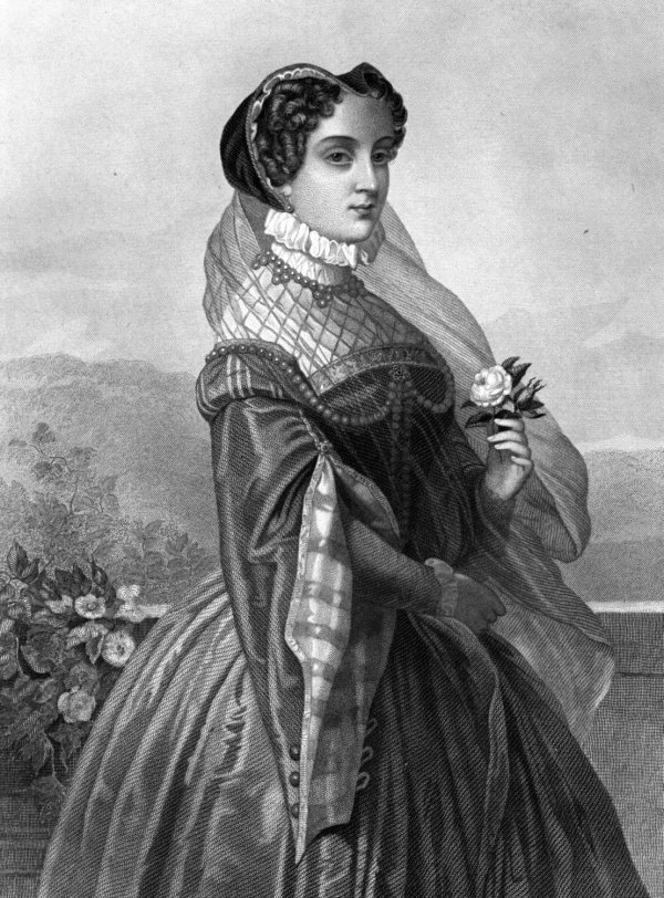 Mary, Queen of Scots Depicted in an 1885 Engraving