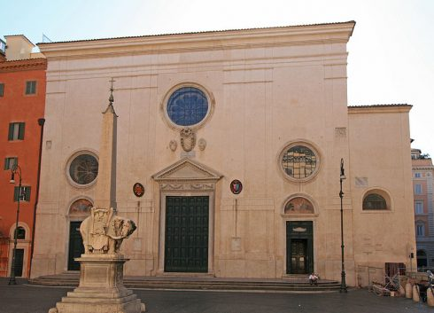 Church of Santa Maria Sopra Minerva, Rome. Pope St. Zachary built this church over an ancient temple to Minerva near the Pantheon. The tomb of St. Catherine of Sienna and Bl. Fra Angelico are here.