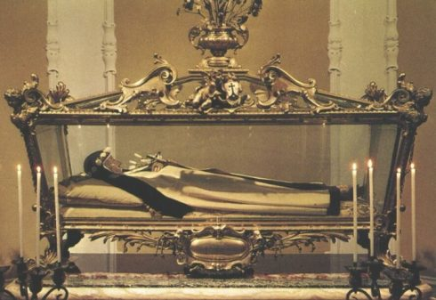 The incorrupt body of St. Teresa Margaret.