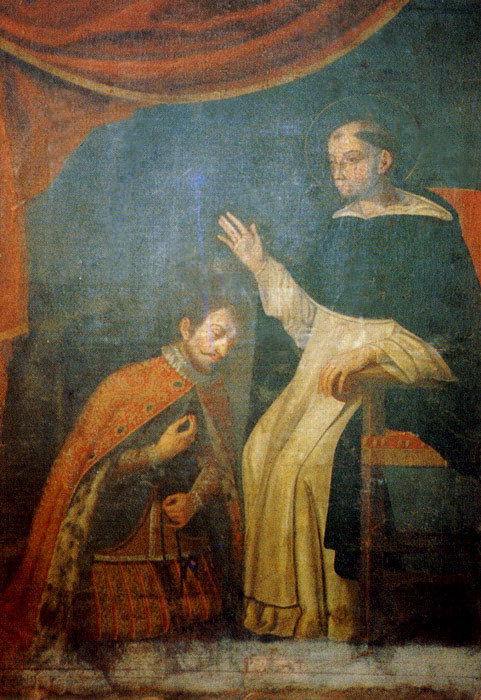 San Telmo confessor to King Saint Ferdinand III, painting at the Church of San Telmo, Gran Canaria.