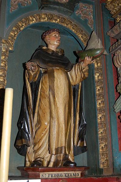 Statue of Bl. Peter González (also called St. Elmo) in the Church of Saint Cajetan in Santiago de Compostela.