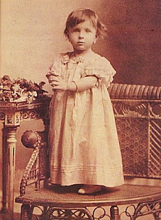 St Teresa of the Andes at 18 months old.