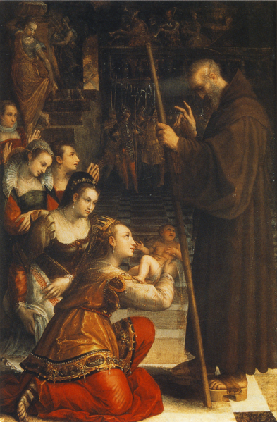 St. Francis of Paola blessing the son of Louisa of Savoy