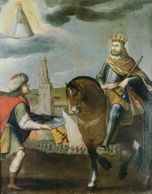 Surrender of Seville to Saint Ferdinand, painted by Gregorio Vásquez de Arce y Ceballos