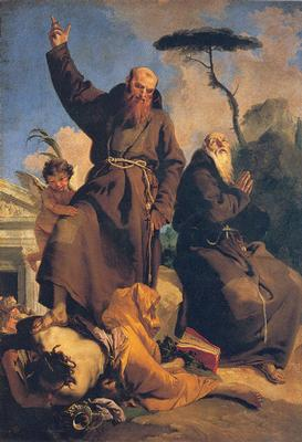 Saint Fidelis of Sigmarigen with Saint Joseph of Leonessa