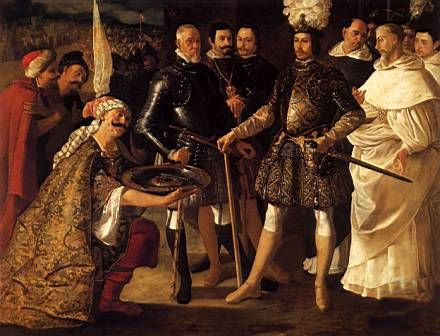 The Surrender of Seville, painted by Francisco de Zurbarán.