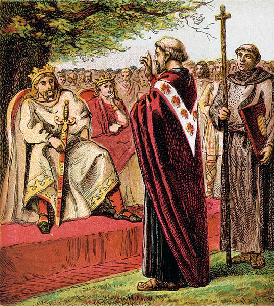 Saint Augustine preaching to the Saxons