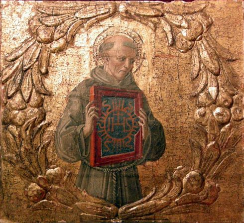 Image of St Bernardine of Siena at the NY Metropolitan Museum of Art.