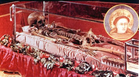 The body of St. Anthony of Padua.