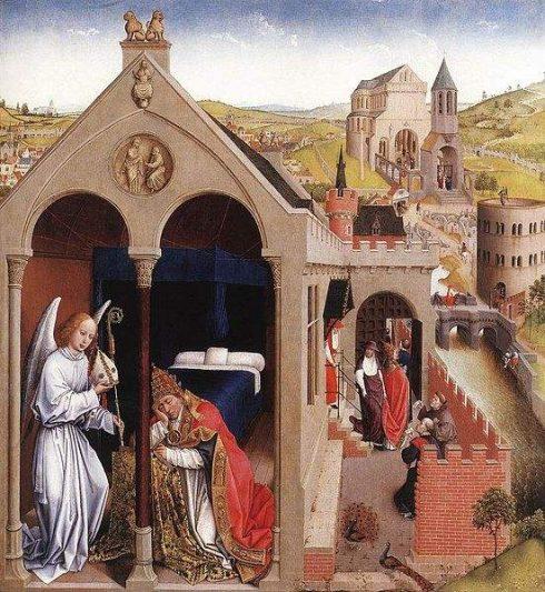 Dream of Pope St. Sergius, painting by Rogier van der Weyden