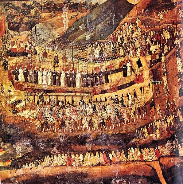 martyrs of Nagasaki. 16-17th-century Japanese painting.