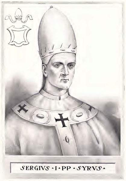 This illustration is from The Lives and Times of the Popes by Chevalier Artaud de Montor, New York: The Catholic Publication Society of America, 1911. It was originally published in 1842.
