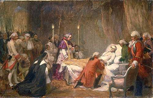Death of Montcalm. Sketch by Marc Aurèle de Foy Suzor-Coté
