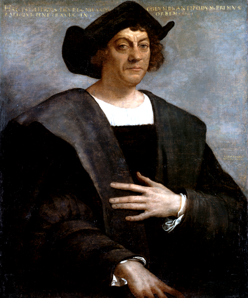 Painting of Christopher Columbus by Sebastiano del Piombo.