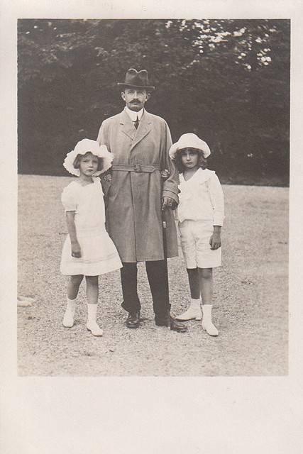 Emperor Charles I of Austria with his children and Adelheid Otto in exile.