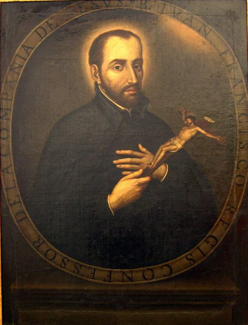 18th Century painting of St. John Francis Regis in the Church of St. Ignacius, Bogotá, Colombia by Gustavo Adolfo Vives Mejía