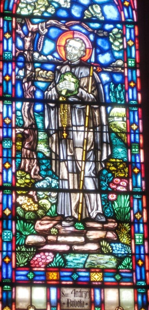 St. Andrew Bobola in stained glass, Church of the Blessed Virgin Mary, Reading, Pennsylvania