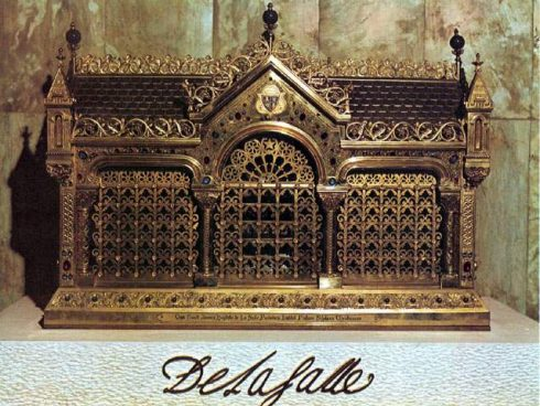 Relics of St. John Baptist de La Salle in the Casa Generaliza in Rome, Italy.