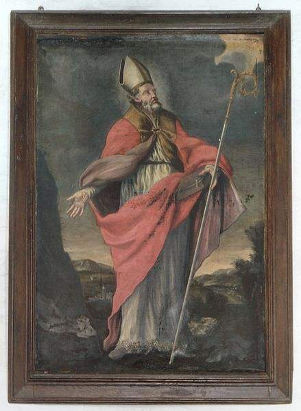 Painting of S. Anselmo in Chiesa di S. Anselmo in Bomarzo, Italy, taken by G.Hagedorn.