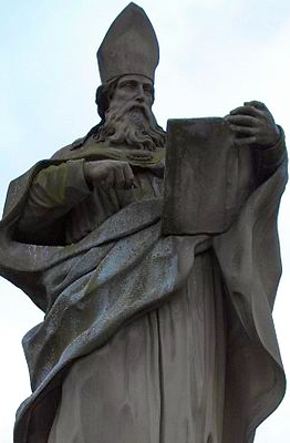 The statue of Saint Bruno on Würzburg's Alte Mainbrücke