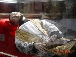 St. Francis Caracciolo's statue at Monteverginella, Naples, over his remains.